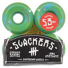 "Колеса для скейтборда Slackers Street Series ""stoner"" (лайм и синий)"