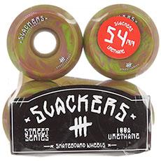 """Колеса для скейтборда Slackers Street Series """"stoner"""" (лайм и фиолетовый)"""
