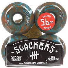 "Колеса для скейтборда Slackers Street Series ""stoner"" (синий и оранжевый)"