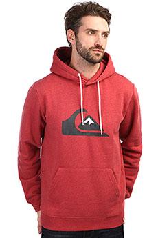 Толстовка кенгуру QUIKSILVER Big Logo Hood Brick Red Heather