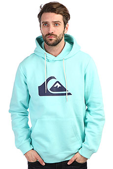 Толстовка кенгуру QUIKSILVER Big Logo Hood Aqua Splash
