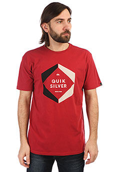Футболка QUIKSILVER Hexalogoss Brick Red