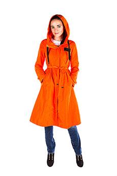 Женский демисезонный плащ оранжевый MSJ-S704 2615