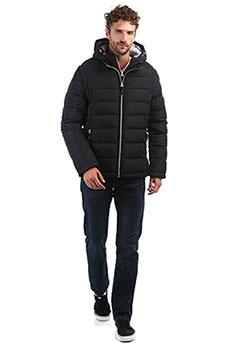 Утепленная мужская пуховая куртка с капюшоном и двойной застежкой A PASSION PLAY