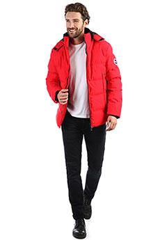 Мужская зимняя куртка с лямками с капюшоном красная ENRICO BELENO