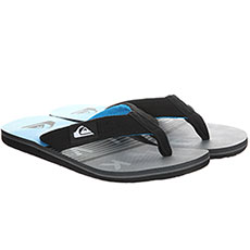 Вьетнамки QUIKSILVER Molokai Layback Black/Grey/Blue-8652-14