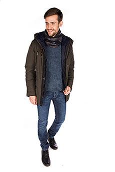 Мужская зимняя куртка 4707 haki