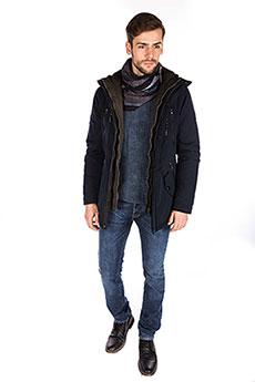 Мужская зимняя куртка 4707 navy blue
