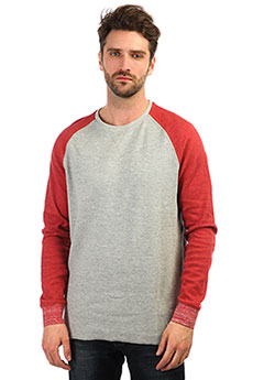 Толстовка свитшот QUIKSILVER Hakonesummercre Light Grey Heather