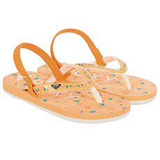 Вьетнамки детские Roxy Tw Pebbles Vi Coral