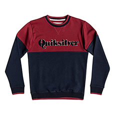 Толстовка свитшот QUIKSILVER Powerslashcr Brick Red