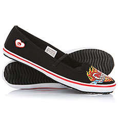 Балетки женские Osiris Cove Girls Black/White/Red/Flaming Heart