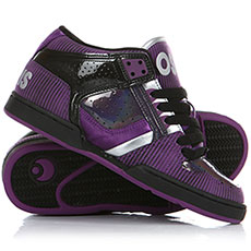 Кеды низкие женские Osiris South Bronx Girls Black/Purple/Silver