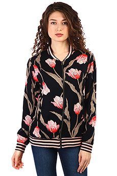Бомбер женский Billabong Retro Bloom Black