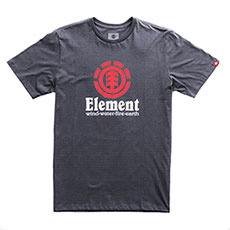 Футболка детская Element Vertical Charcoal Heathe