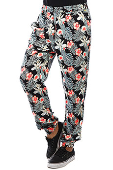 Штаны прямые женские Roxy Easy Peasy Pant Anthracite Tropicala