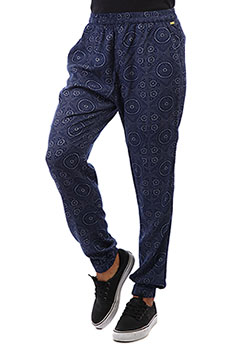 Штаны прямые женские Roxy Easy Peasy Pant Med Blue Shibori Nig