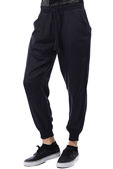 Штаны широкие женские Billabong Downstar Black