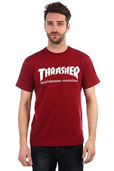 Футболка Thrasher Skate mag Burgundy