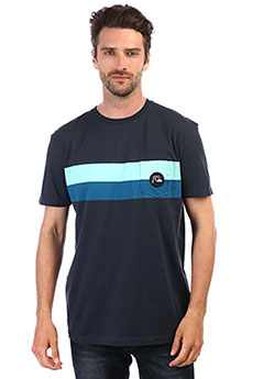 Футболка QUIKSILVER Seasonstripckte Blue Nights
