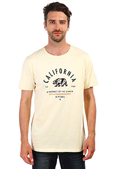 Футболка Rip Curl Surfing States Ss Tee Pale Yellow