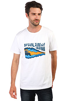 Футболка Rip Curl Van Surf Ss Tee Optical White