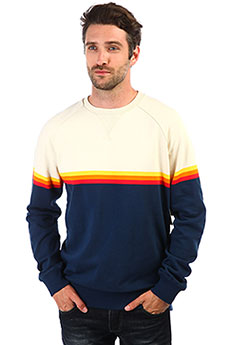 Толстовка свитшот Rip Curl Rainbow Stripe Crewneck Fleece Navy