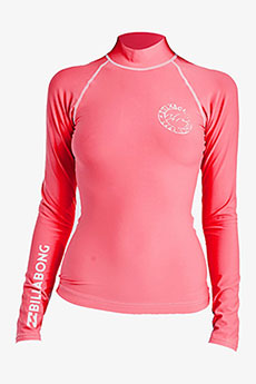 Гидрофутболка Billabong Logo In Ls Coral Pink