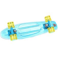 Скейт мини круизер Пластборды Transparent 2 Sky 6 x 22 (55.9 см)