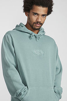 Толстовка кенгуру Billabong Wave Washed Po Dust Green