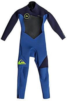 Детский QUIKSILVER гидрокостюм с молнией на спине 3/2mm Syncro