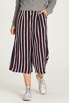 Штаны широкие женские Element Aluna Culotte Pant Indigo Stripe