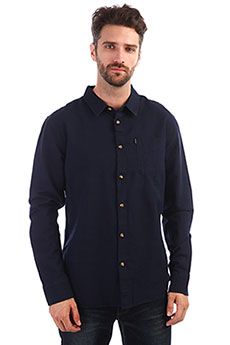 Рубашка Rip Curl Organic Plain Shirt Dark Blue