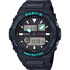 Электронные часы женские Casio Baby-g bax-100-1aer Black