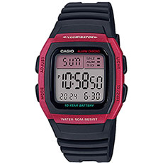 Электронные часы Casio Collection w-96h-4avef Burgundy/Black