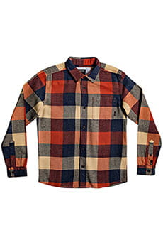 Рубашка в клетку детская QUIKSILVER Motherflyflanny Burnt Brick Motherfl
