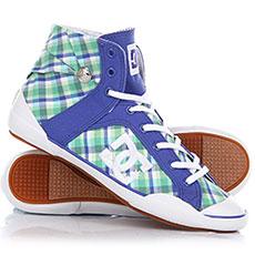 Кеды высокие женские DC Shoes Chelsea Z Hse White/Baja Blue