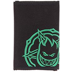 Кошелек Spitfire Logo Black/Green