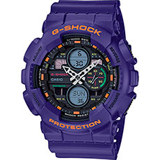 Кварцевые часы Casio G-Shock Ga-140-6aer Purple