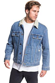 Куртка джинсовая QUIKSILVER Denimjcktsherpa Blue Used