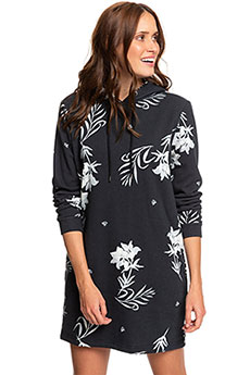 Платье женское Roxy Snow Down Print Anthracite Bicolys