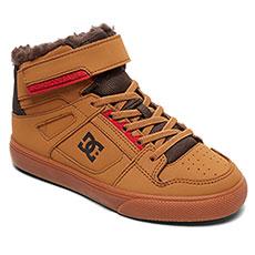 Кеды зимние детские DC Shoes Pure Ht Wnt Ev Wheat/Dk Chocolate