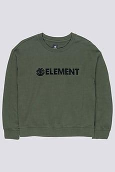 Толстовка классическая Element Logo Crew Fleece Olive Drab