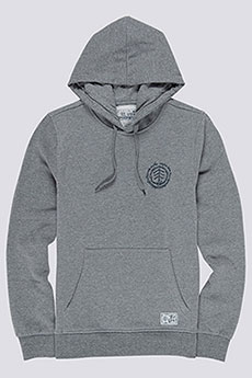 Толстовка кенгуру Element Too Late Logo Ho Grey Heather