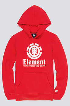 Толстовка кенгуру детская Element Vertical Hood Boy Fire Red2