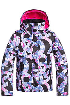 Куртка утепленная детская Roxy Jetty Girl Jk True Black Famous Al