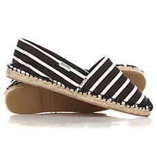 Эспадрильи женские Soludos Classic Stripe2 Black/White