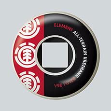 Колеса для скейтборда Element Section Red 95A 52 mm