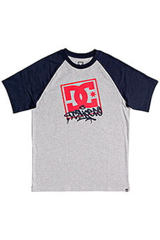 Футболка детский DC Shoes Vandalz Grey Heather/Black