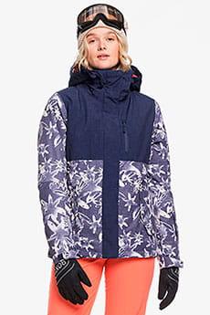 Куртка сноубордическая Roxy Jetty Block Mid Denim Bleached